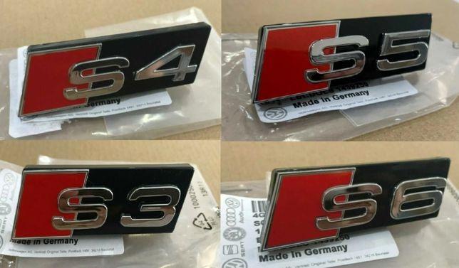 NOWY emblemat S3 S4 S5 S6 S8 na grill zatrzaski znaczek AUDI S LINE