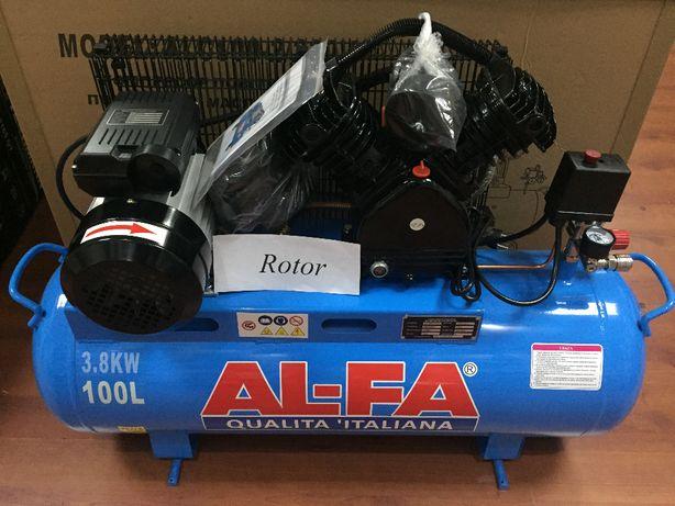 Компрессор компресор с ресивером AL FA 100 150 180 220 300 литр Италия