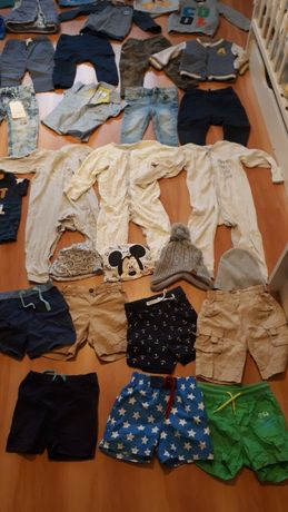Ubrania dla chlopca 80-86 spodnie koszulka bluza pajac