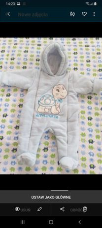 Sprzedam kombinezon niemowlęcy 62-68 +śpiworek