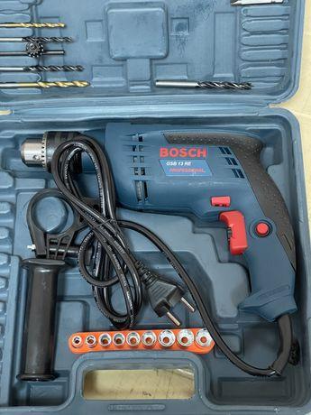 Дриль ударний Bosch Professional GSB 13 RE / ударная сетевая дрель Бош