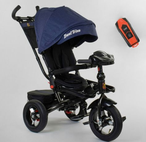 Детский трёхколёсный велосипед - коляска, поворот сиденья, ровер