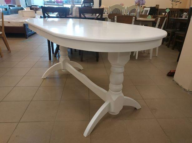 Деревяний стіл гостинний розкладний 160х90+40 овальний в гостинну