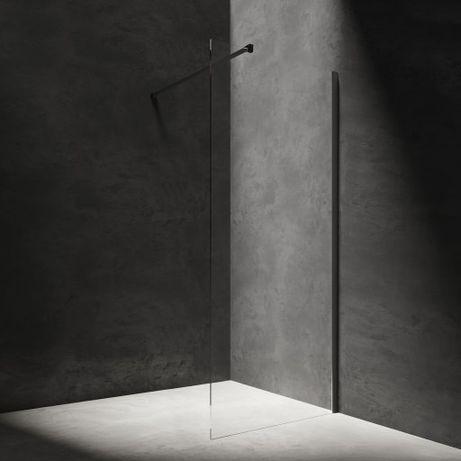 Kabina prysznicowa typu walk-in OMNIRES 90x200 czarny mat
