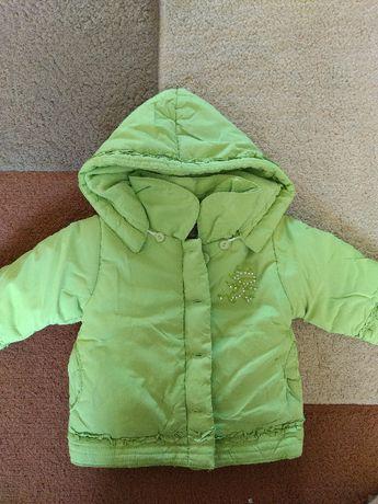 Kurteczka zimowa dla dziewczynki rozmiar 12- 18 miesięcy.