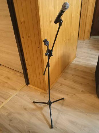 Dwa mikrofony + stojak