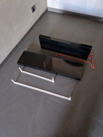 Półki czarne lakierowane