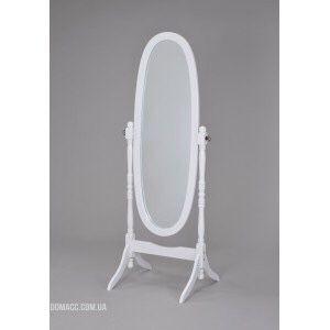 Зеркало вращающееся (дерево белое)
