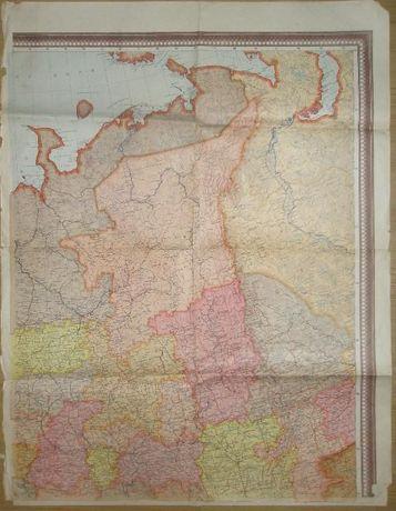 Карта 1950г европейской части ссср