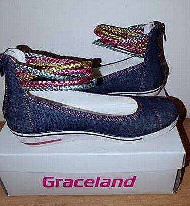 Graceland NOWE półbuty/sandały dziewczęce wiosna zdobione 35