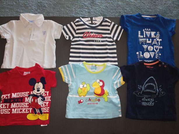 Lote de 6 t-shirts bebé 6_9 meses, oferta portes