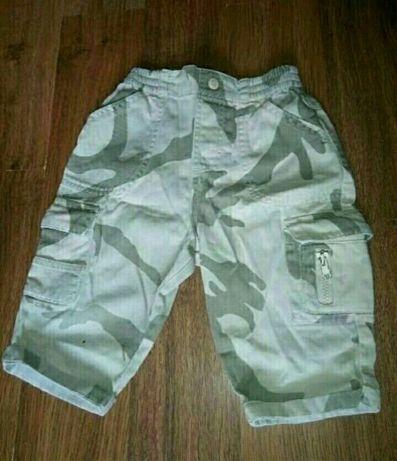 Котоновые брюки камуфляжные штаны летние на мальчика до 6 месяцев