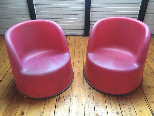 2 fotele plastikowe IKEA