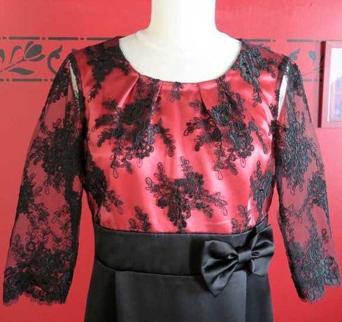 Vestido Preto/Vermelho Renda S/M