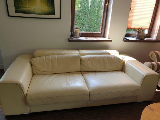 Włoska kanapa skórzana 240 cm zł, gł 110 cm.
