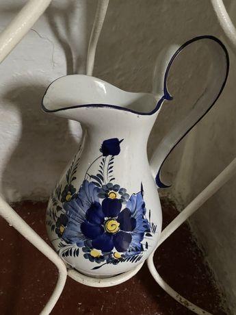 Antiguidade jarro e alguidar ceramico