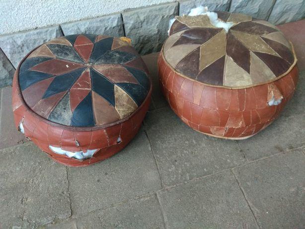 Oryginalne tureckie pufy z wypełnieniem