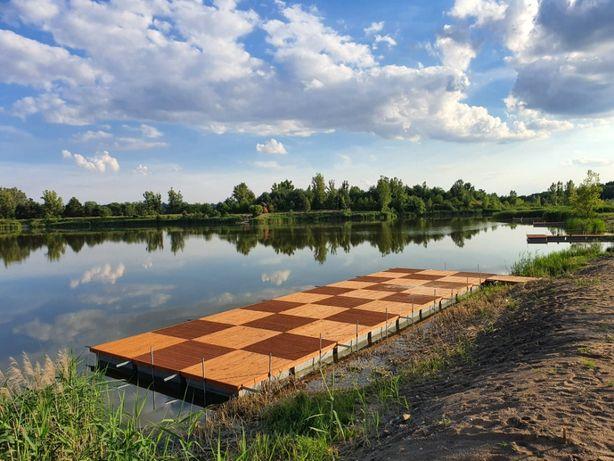 Pomost Pływający Pomosty Pływające Platforma Wyspa Rower wodny molo