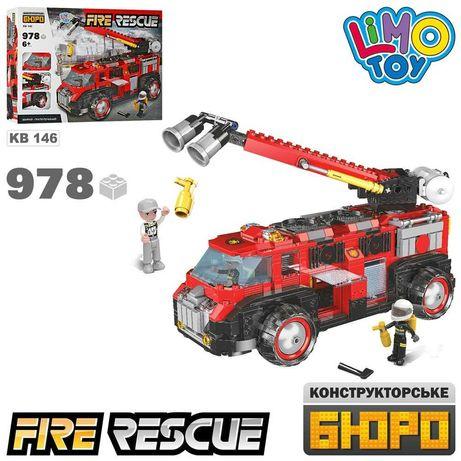 Конструктор KB 146 Пожарная Машина Фигурки 978 Дет аналог лего