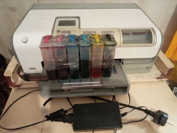 Продам принтер HP PhotoSmart D7163 вместе с СНПЧ и чернилами