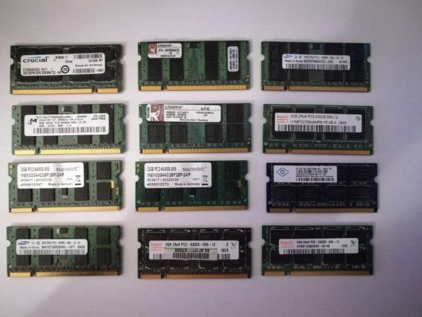 RAM laptop DDR2 2GB Samsung Hynix mix