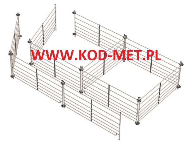 System wygrodzenia łąkowego dla owiec, kóz, paśnik, cieląt