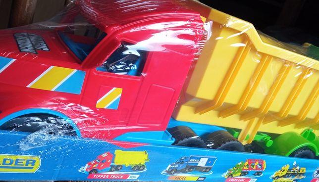 Ogromna Ciężarówka wywrotka Zabawka Wader świecące światła! samochód