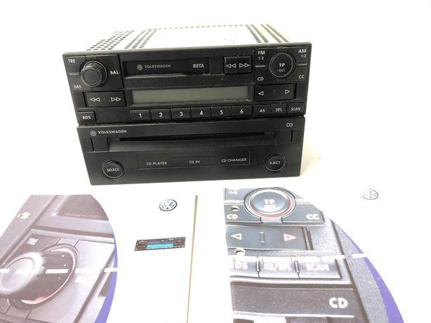 Radioodtwarzacz BETA + zmieniarka CD VW Golf Passat