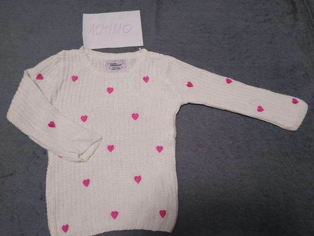 Sweterek dziewczęcy 104/110