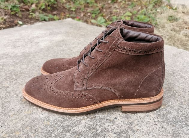 Кожаные демисезонные ботинки броги ECCO Vitrus I 41 р. Оригинал