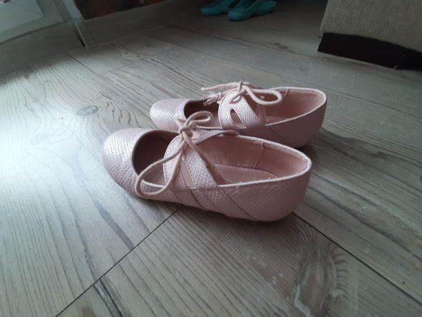 Baleriny buty 33 jasny róż