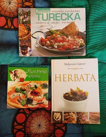 Książki kulinarne - kuchnia włoska, herbata