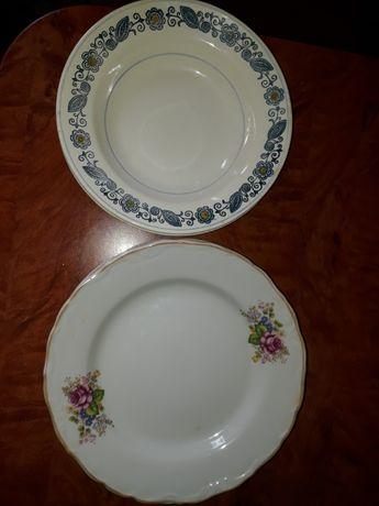Тарелки большие 4 (плоские) + 2 (глубокие) недорого
