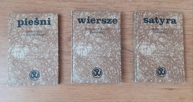 Trzy książeczki z utworami z okresu wojny i powstania warszawskiego