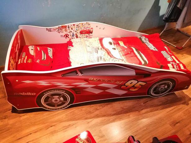 Łóżko Cars autka Disney + materac + pościel