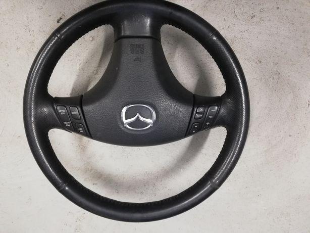 Mazda 6 GG kierownica wielofunkcyjna trójramienna stan idealny