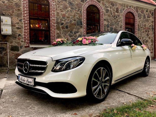 AUTO DO ŚLUBU Biały Mercedes E Avantgarde. Samochód do ślubu Jaguar