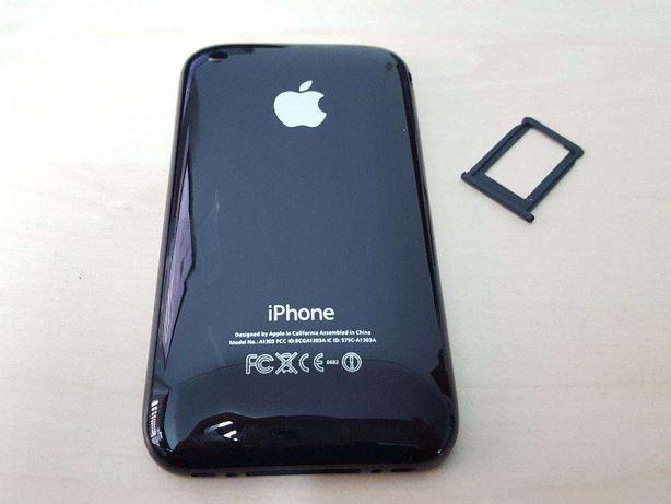 R432 Capa Traseira IPhone 3G 8GB Preto + Sim Tray NOVO