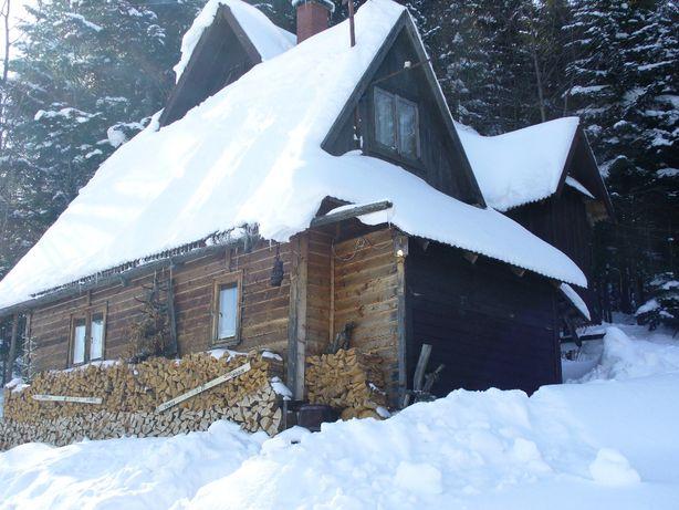 Domek chatka w górach, Obidza, Beskid Sądecki, wakacje, ferie zimowe