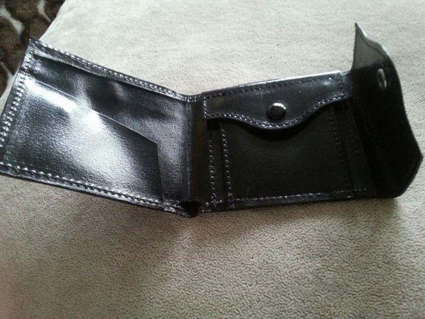 Mala zgrabna portmonetka - portfel damski skora naturalna