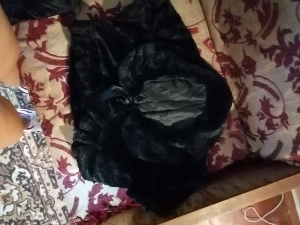 Меховой желет к платью