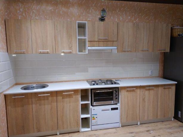Кухня Дуб Сонома 3 метри суцільна стільниця + мийка