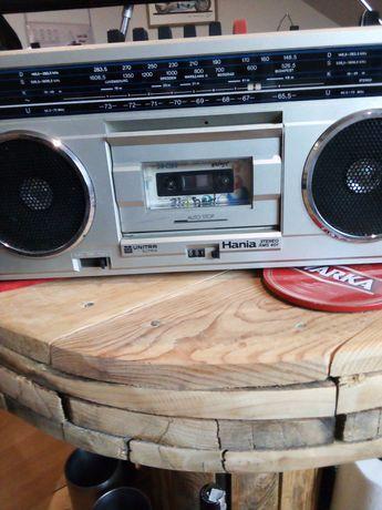 Radio-magnetofon Hania lata 80 PRL.Vintage 2 szt.