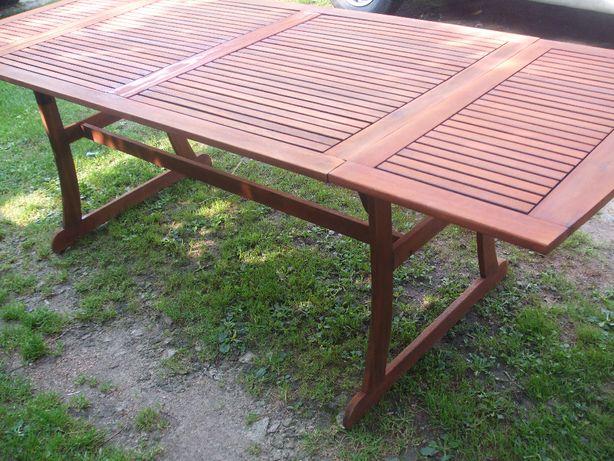 Stół + 2 krzesła z drewna egzotycznego