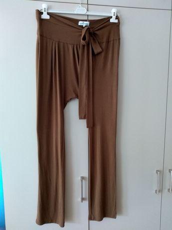 Alladynki spodnie elastyczne uniw L XL XXL brązowe ciążowe?
