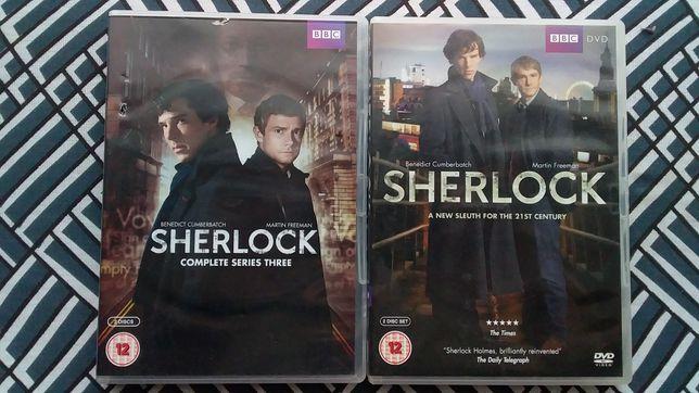 4 DVD культового сериала Шерлок (Sherlock) Англия. Оригинал!