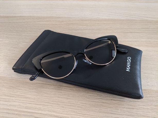 Kocie seksowne okulary przeciwsłoneczne MANGO, Nowe