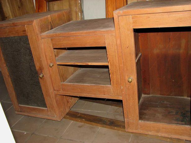 drewniana przedwojenna nadstawka do kredensu + szuflady