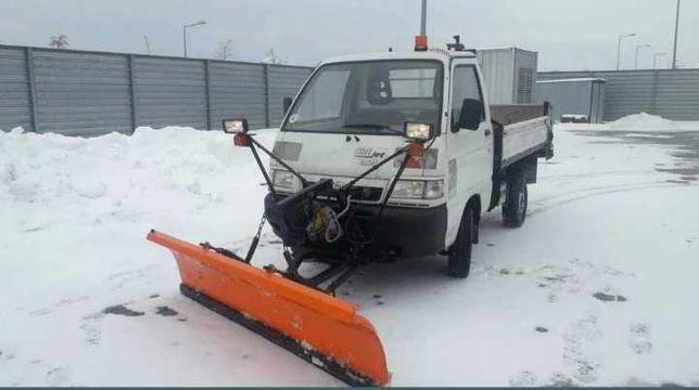 Pług do śniegu solarka kiper wywrotka 4x4 benzyna Piaggio Porter