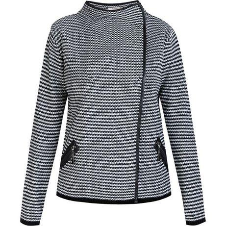 Sweter monnari L czarno-biały